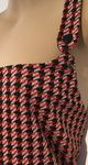 DOROTHY PERKINS RED DOGTOOTH PINAFORE DRESS SIZE 16